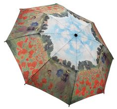 Monet's Poppy Field Umbrella, one of many great designs available in the suites for the personal use of our guests