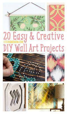20 Easy & Creative DIY Wall Art Projects | littleredwindow.com