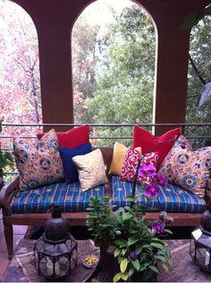 "My ""Moroccan terrace"" daybed."