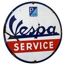 Image result for vintage vespa signs
