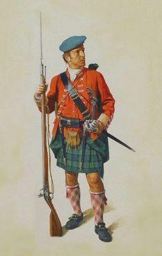 Highlander, French-Indian War, 1756