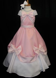 Child's Pink Cinderella Gown That The Mice Made- Etsy shop