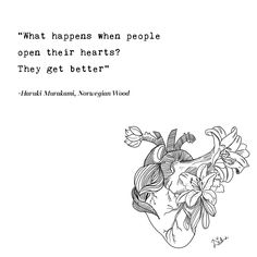 16 Profound Murakami Quotes To Calm Your Soul & Answer Your Heart's Most Pressing Questions Calm Quotes, Soul Quotes, Words Quotes, Positive Quotes, Sayings, Norwegian Wood Quotes, Into The Woods Quotes, Writer Quotes, Haruki Murakami