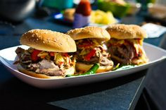Carolina Barbecued Pulled Pork Sandwiches