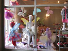 Spring Window Display.. like the butterfly wings:)