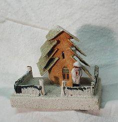 Antique Christmas village putz house