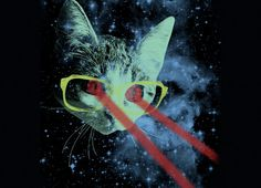 Take a hipster cat with bright rimmed glasses and send him to outer space where he fires laser beams from his eyes.  This isn't the stuff of science fiction…  This is Mister Mittens' Big Adventure!