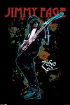 Jimmy Page Led Zeppelin Poster - Jimmy Page, Robert Plant, John Paul Jones, John Bonham - Music Posters. Jimmy Page, Rock Posters, Band Posters, Concert Posters, Music Posters, John Paul Jones, John Bonham, Rock N Roll, Robert Plant
