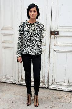 Leigh Lezark at Spring/Summer 2014 Paris Fashion Week
