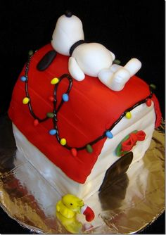 """A Charlie Brown Christmas"" Cake 