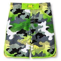 Boys Mesh Camo Swim Trunk Green - Cherokee®