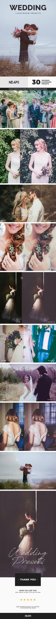 30 Wedding Lightroom Presets