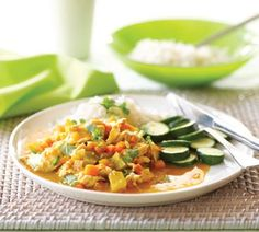 Quick chicken curry in a hurry Quick Recipes, Cooking Recipes, Healthy Recipes, Healthy Dinners, Healthy Chicken Curry, Pumpkin Curry, Have Time, My Favorite Food, Healthy Eating