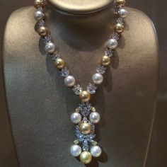 Fantastic #necklace set with #diamonds #sapphire #pearl by #tarapearls @tarapearls #jewelry #jewellery #diamond #amazing #cute #beautiful #beauty #love #life #happy #art #design #designer #followme #dailypic #instagood #instamood #instalike#luxury #fashion #gem #gemstone #artwork #style #mariigem
