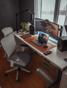 Home Office Setup, Home Office Space, Home Office Design, House Design, Office Desk, Office Chairs, Best Computer Chairs, Bedroom Setup, Bedroom Workspace
