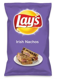 Wouldn't Irish Nachos be yummy as a chip? Lay's Do Us A Flavor is back, and the search is on for the yummiest flavor idea. Create a flavor, choose a chip and you could win $1 million! https://www.dousaflavor.com See Rules.