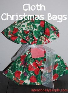 DIY Cloth Christmas Bags