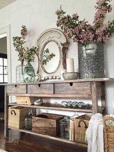Awesome Rustic Farmhouse Home Decor Ideas 16