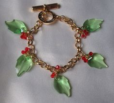 Christmas Morn Swarovski Bracelet   SRAJD by therodeorose on Etsy, $38.00