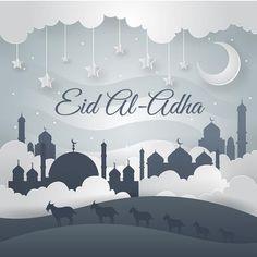 Modern Art Islamic Eid Al-Adha Card Illustration eid al adha PNG and Vector Eid Al Adha Greetings, Eid Mubarak Wishes, Adha Mubarak, Adha Card, Islamic Celebrations, Eid Mubarak Vector, Happy Eid Al Adha, Eid Cards, Muslim Ramadan