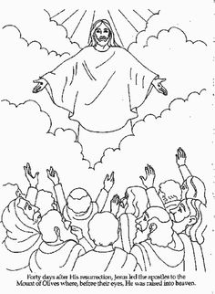 jesus ascended to heaven bible coloring pages