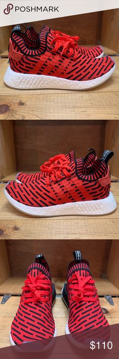 c674804799f1 Adidas NMD R2 Primeknit Core Red Mens Size 8 Brand New. Never Worn. Without