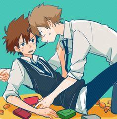Digimon - Matt Ishida x Tai Kamiya - Taito Anime Manga, Anime Guys, Digimon Adventure Tri., Hunter Games, Digimon Tamers, Naruto Boys, Naruto And Sasuke, Anime Shows, Fan Art