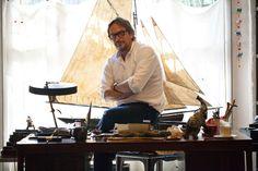 Massimo Alba in his showroom in Milan.