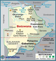 Botswana-I still want to go here and teach English. One day!