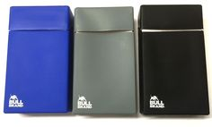 SUPER KING SIZE CIGARETTE CASE HINGED BOX HOLDER SOFT SILICONE by BULL BRAND