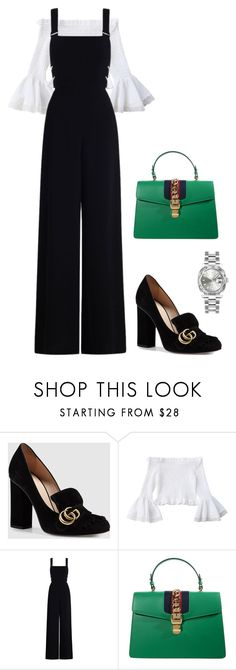 """Jumpsuit Joy"" by ofwfasion on Polyvore featuring Gucci, Zimmermann and Rolex"