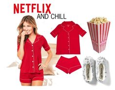 NETFLIX AND CHILL 1 by romerodlou on Polyvore featuring moda