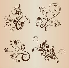 swirly floral decorative elements