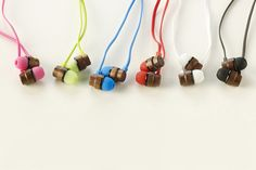 woodbuds: naturally crafted, eco-friendly wood earphones - designboom | architecture