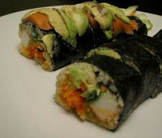 "No rice ""sushi"" :: Paleo Girl's Kitchen: Paleo Sushi.."