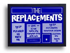 The Replacements Framed Gig/LP Promo Poster Print by indieprints, $20.00