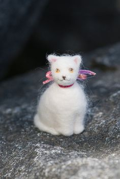 Needle Felted Cat So cute! Laurie Sharp
