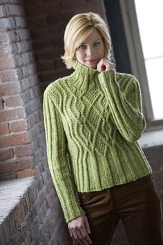 "Classic Elite Yarns--Kathy Zimmerman--""Stormy"" Cabled Pullover"