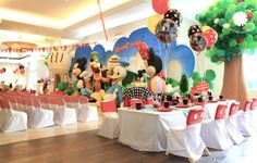 """Photo 1 of 16: Mickey goes picnic / Birthday """"Russel 1st Birthday Party"""""""