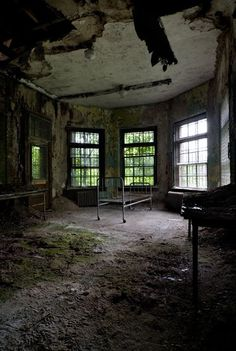 from opacity.us, one of my most favorite sites ever. all photos are from abandoned buildings taken by tom kirsch. this is norwich state hospital. my uncle was a patient here a long time ago.