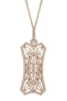 From the Amavida Fashion Collection, a unique 18k Pink Gold Allure necklace. | JH Faske Jewelers (979) 836-9282