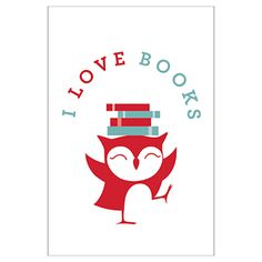 I Love Books Library Poster
