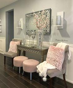 Glam Living Room, Living Room Decor Cozy, Elegant Living Room, Bedroom Decor, Flur Design, Decoration Inspiration, Decor Ideas, Home Interior Design, Living Room Designs