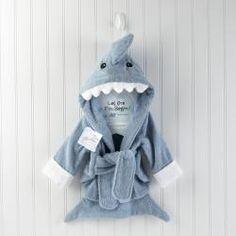 Baby Aspen 'Let the Fin Begin' Terry Shark Robe