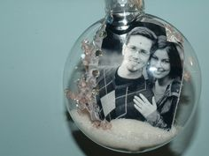 DIY Christmas Photo Bulbs - my ornament for this year? I could even put in 'first christmas married' or something