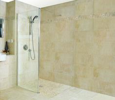 A hot trend in bathroom design – modern curbless shower ideas Bathroom Shower Panels, Bathroom Spa, Master Bathroom, Small Bathroom Furniture, Glass Partition Wall, Bathroom Trends, Bathroom Ideas, Contemporary Bathroom Designs, Walk In Shower