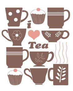 I heart tea time #teaart
