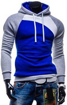 Winter New Men Hooded Coat Color Matching Sweatshirts Men's Teenagers Hoodies Cheap Suits For Men Sportswear Summer Style M-XXXL