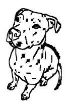 Free Pit Bull Line Art 10 by Wolfie-Undead