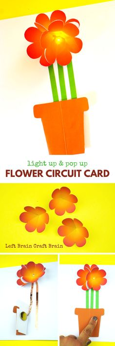 Combine STEM learning and a cool creative project with this Light Up & Pop Up Flower Circuit Card. It's perfect for Mother's Day!  This STEM tutorial is sponsored by iD Tech Camps.